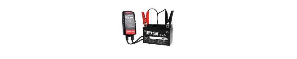 Eléctricité : Chargeur de batterie , bougies , batterie , ampoule pour moto